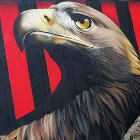 Graffiti am Waldstadion